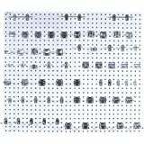 Triton Products LB2-Kit Two LocBoard Square Hole Pegboards 24-Inch W by 42-1/2-Inch H by 9/16-Inch D White Epoxy 18 Gauge Steel with 63-PieceLocHook Assortment