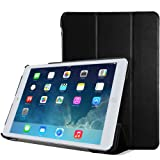 MoKo Apple iPad Air Case - Ultra Slimline Lightweight Case for Apple iPad 5 Air (5th Gen) Tablet, BLACK (With Smart Cover Auto Wake / Sleep)