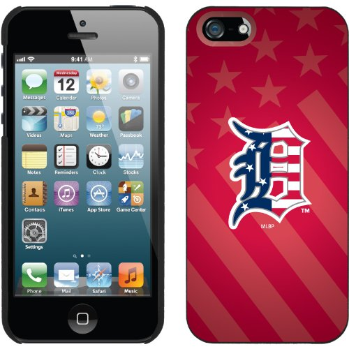 Special Sale Detroit Tigers - USA Red design on a Black iPhone 5 Thinshield Snap-On Case by Coveroo