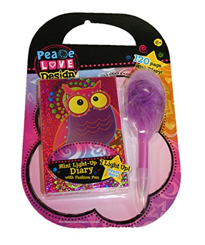 Mini Light up Diary & and Fashion Pen Set (Whoo Whoo Owl) - 1