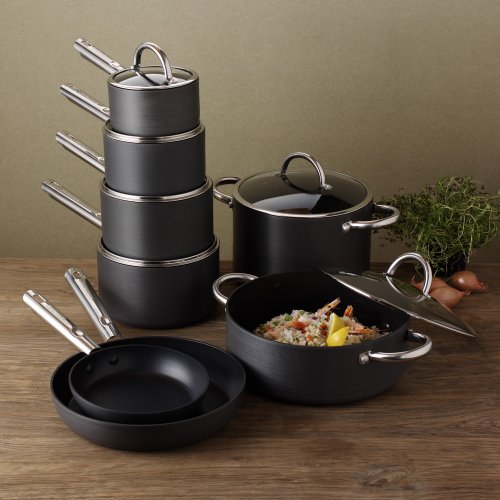 ProCook Professional Anodised Cookware Set 8 Piece Chef