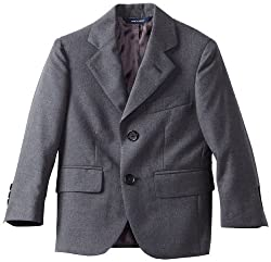 Brooks Brothers Little Boys' Two Button Jacket Junior, Gray, 4