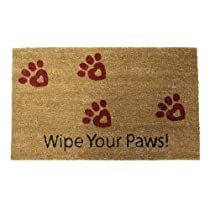 Rubber-Cal Wipe Your Paws! Doormat - 18 x 30 inches - Animal Doormats