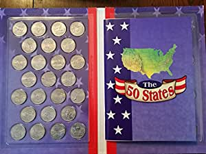 1999-2008 P Complete UNC State Quarter 50-Coin Album Set - in tubes