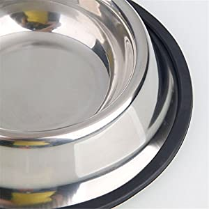 Advanced Anti-skidding Stainless Steel Food Bowl for Pet (15CM)