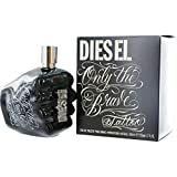 Diesel Only The Brave Tatoo Eau de Toilette Spray for Men, 4.2 Ounce