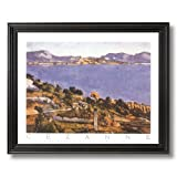 Paul Cezanne French Landscape Lake Tree Landscape Home Decor Wall Picture Black Framed Art Print