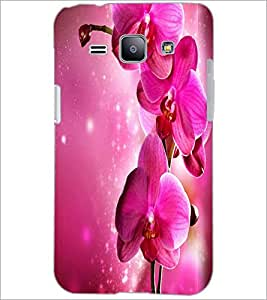 PrintDhaba Flower D-2183 Back Case Cover for SAMSUNG GALAXY J1 (Multi-Coloured)