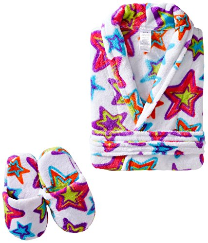 Sleep & Co Big Girls' Stars Robe with Slippers Set