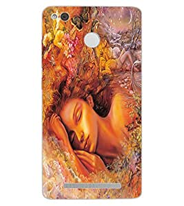 ColourCraft Beautiful Girl Design Back Case Cover for XIAOMI REDMI 3X