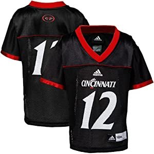 Buy NCAA adidas Cincinnati Bearcats #12 Infant Replica Football Jersey-Black by adidas