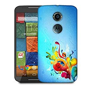 Snoogg Colorful Paint Designer Protective Phone Back Case Cover For Moto X 2nd Generation