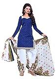Success Women's Designer Party Wear Low Price Sale Offer Blue Cotton Monika bedi Unstitched Patiala Salwar Kameez Suit Dress Material With Dupatta