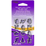 Premo Mini Metal Cutters 12/Pkg-Holiday