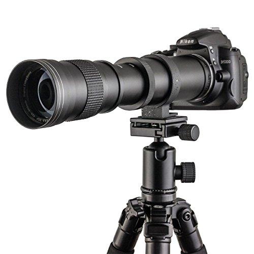 TOP-MAX 420-800mm f / 8,3-16 Super-teleobiettivo Zoom Teleobiettivo zoom Obiettivo zoom per Canon EOS 1D, 5D, 6D, 7D, 10D, 20D, 30D, 40D, 50D, 60D, 100D, 300D, 350D , 400D, 450D, 500D, 550D, 600D, 700D, 1000D, 1100D, 1200D e più DSLR/SLR