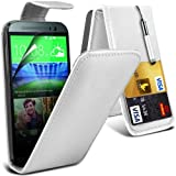 HTC One M8S Leather Flip Case Cover (White) Plus Free Gift, Screen Protector and a Stylus Pen, Order Now Best Valued Phone Case on Amazon! By FinestPhoneCases