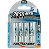 Ansmann 5035212 High Capacity NiMH AA 2850 mAh 4-Pack Blister Rechargeable Batteries