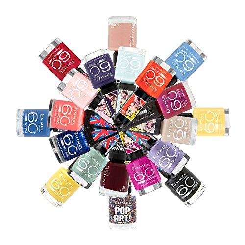 Rimmel London 60 Seconds Nail Polish Color Lacquer Set 20-Piece Collection (White Nail Polish Set compare prices)