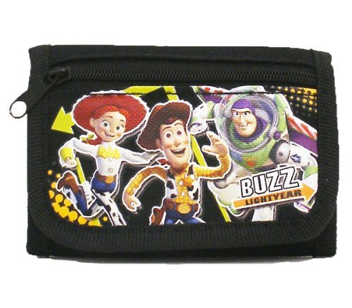 Toy Story Black Tri-Fold Wallet with Flute