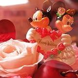 結婚祝い 花 ディズニー フラワーギフト ミッキー ミニー 結婚祝いプレゼント プリザーブドフラワーアレンジメント  プチピンク ケース付き  ウェディン...