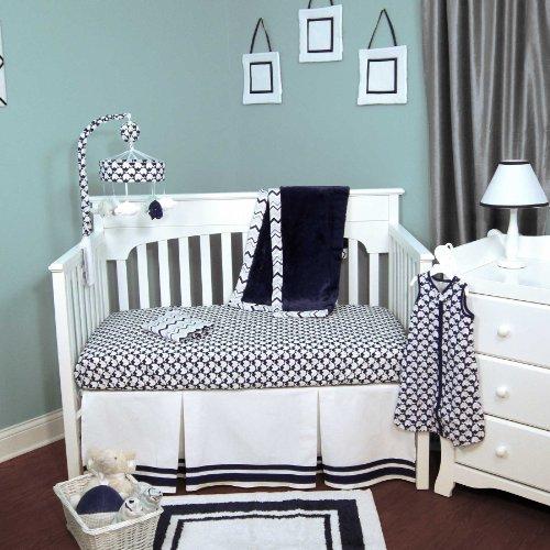 Safe Sleep Boy 5 Piece Baby Crib Bedding Set By Just Born front-700269