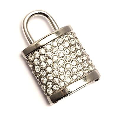 8GB Sparkly Padlock USB Memory Stick - Flash Drive/School/Novelty/Gift by Round Wood Trading