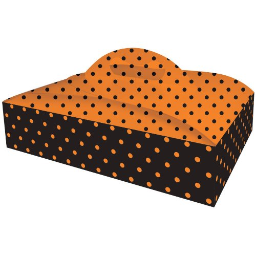Black and Orange Polka Dot Cake Box (1 per package)