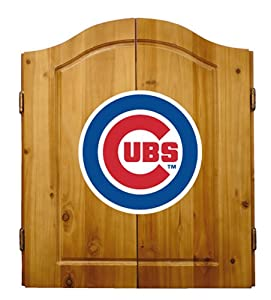 Buy MLB Chicago Cubs Solid Pine Cabinet And Bristle Dartboard Set by Imperial