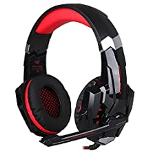 buy Mindkoo 3.5Mm Led Gaming Headphone Headset For Ps4 /Laptop Tablet Mobile Iphone 6S Samsung Galaxy S6 Edge Plus Htc Huawei Xiaomi Black+Red