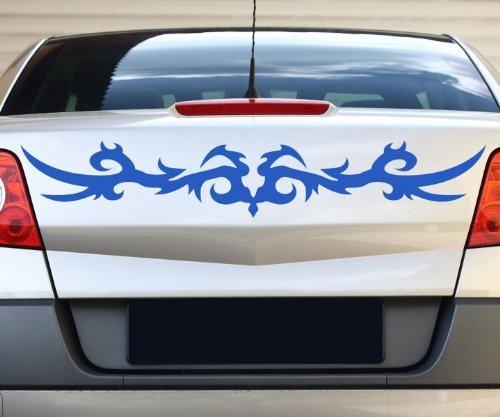 tribal autoaufkleber ranke racing auto aufkleber rennstreifen drache viper 2n271 farbe schwarz. Black Bedroom Furniture Sets. Home Design Ideas