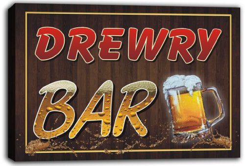 scw3-013498-drewry-name-home-bar-pub-beer-stretched-canvas-print-sign