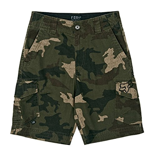 Fox Kids Boy's Slambozo Cargo Short (Little Kids/Big Kids) Green Camo Shorts 28 (16 Big Kids)