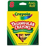 Crayola - Triangular Crayons, 8 Colors/Box 52-4008 (DMi BX