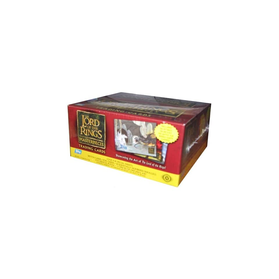 Lord of the Rings Masterpieces Trading Cards Box Toys