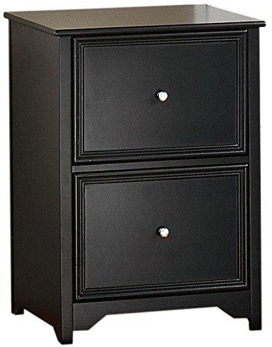 Oxford File Cabinet, 2-DRAWER, BLACK (Black Wood File Cabinet compare prices)