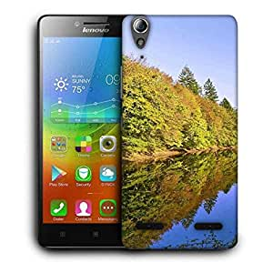 Snoogg River And Forest Printed Protective Phone Back Case Cover For Lenovo A6000