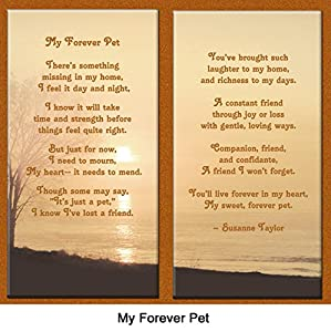 "Pet Lover Remembrance Gift, ""My Forever Pet"" , Memorial Pet Loss Picture Frame and Sympathy Gift Package, with optional custom photo editing"