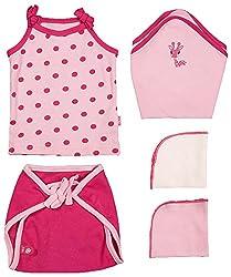 BIO KID Clothing Set for Kids (BG1I-T150-68_0-6 month, 0-6 Months, Multi Color)