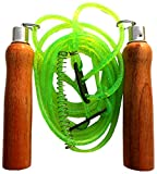 VIRTUOUS Unisex Wood Skipping Rope 200 gm Green