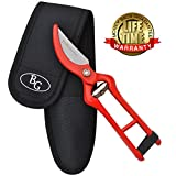 PROFESSIONAL PRUNING SHEARS - Best Heavy Duty Hand Pruners for Serious Gardening - Versatile, Ergonomic, Razor Sharp Steel Garden Clippers, Tree Trimmers + Free Holster & 100% MONEY BACK GUARANTEE!