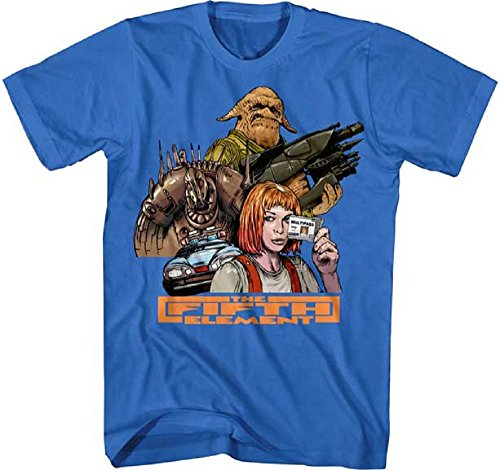Fifth Element Movie Group Adult Graphic Tee Shirt (X-Large) (Leeloo 5th Element)