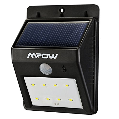 Mpow Foco Solar con Sensor de Movimiento, 8 LED para Exterior Pared Jard¨ªn Porche Garaje