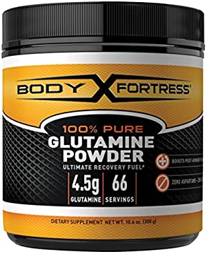 Body Fortress 100% Pure Glutamine Powder, 300 Grams