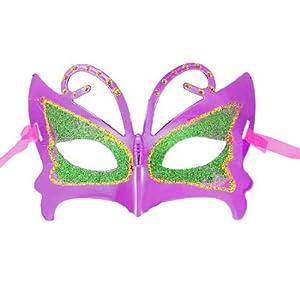 fucsia de la mariposa Máscara Disfraz bola del partido de la señora