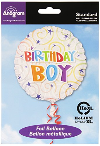 "Anagram International Birthday Boy Swirls Balloon, 18"", Multicolor"