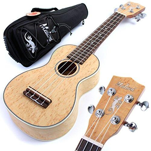 malani-soprano-ukulele-birdseye-maple-top-uke-aquila-strings-padded-gig-bag