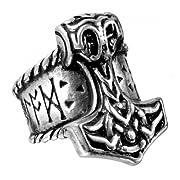 Thor's Runehammer Mens Alchemy Gothic Ring