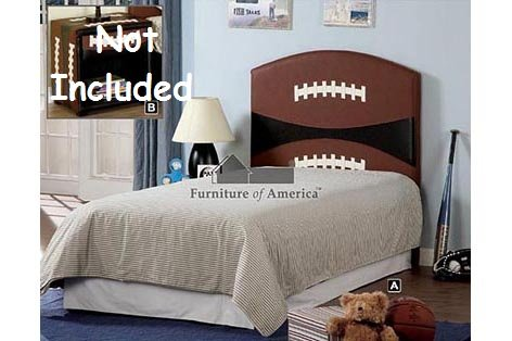 Cheap Kid Youth Football Twin Size Headboard (CM7103-FBLL)