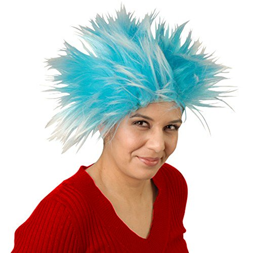 Thing 1 Thing 2 Blue Wig Cat In The Hat Dr. Seuss 3 Hair Costume Accessory