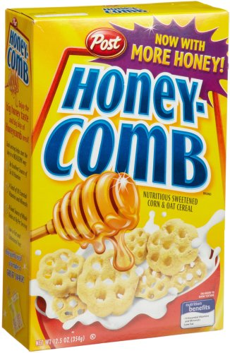 Post Honey-Comb Cereal, 12.5-Ounce Boxes (Pack of 4)